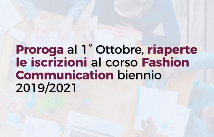 Corso gratuito Fashion Communication: Proroga iscrizioni al 1° Ottobre